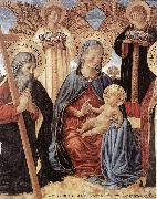 Madonna and Child between Sts Andrew and Prosper (detail) fg GOZZOLI, Benozzo